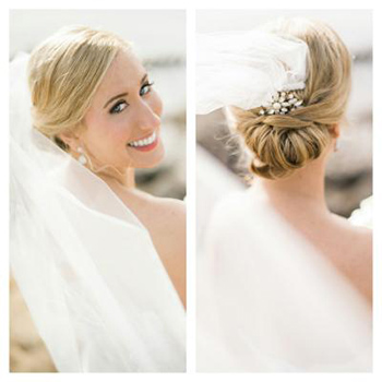 Bridal Hair Updo & Makeup